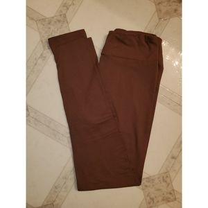 LuLaRoe Size One Size NWOT solid brown leggings